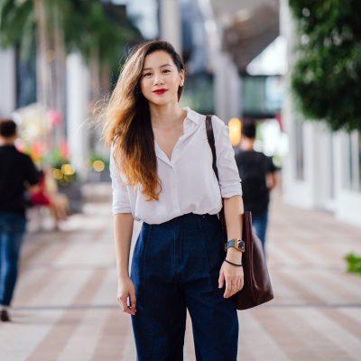 Asian Woman Outside